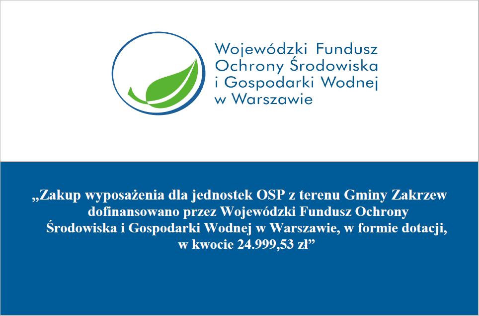Tablica informacji o zakupie wyposażenia dla jednostek OSP
