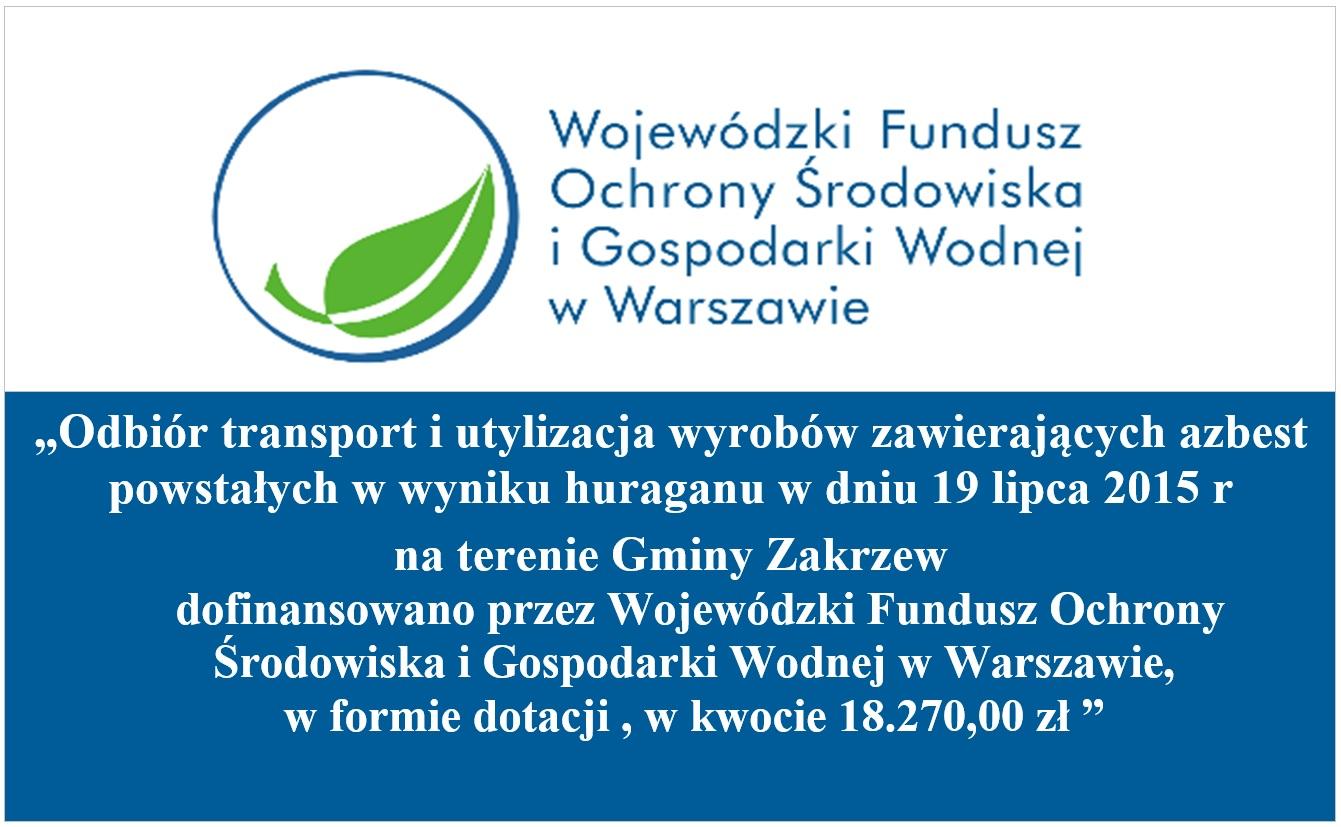 tablica informacji o dofinansowaniu w usuwaniu azbestu