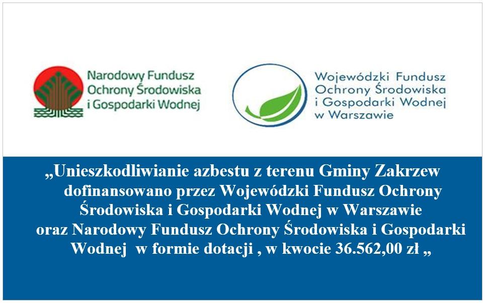 tablica informacyjna, kwota środkow dofinansowania usuwania azbestu