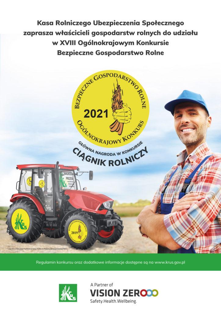 Kasa Rolniczego Ubezpieczenia Społecznego zaprasza właścicieli gospodarstw rolnych do udziału w XVIII Ogólnokrajowym Konkursie Bezpieczne Gospodarstwo Rolne