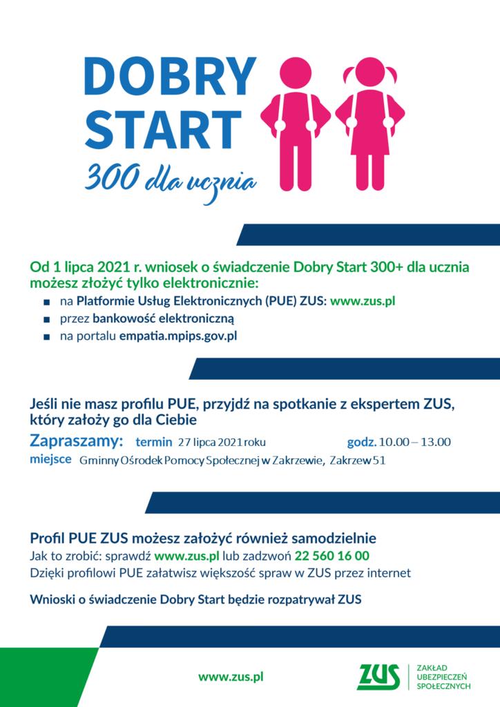 Plakat programu Dobry Start