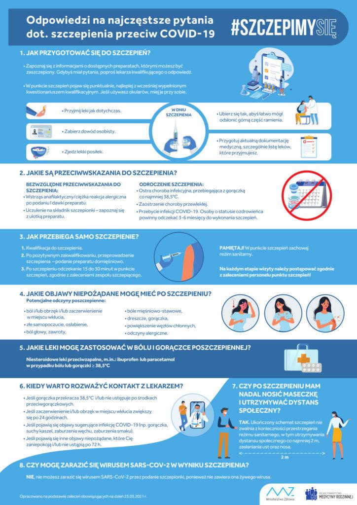 Plakat odnośnie szczepień na COVID-19