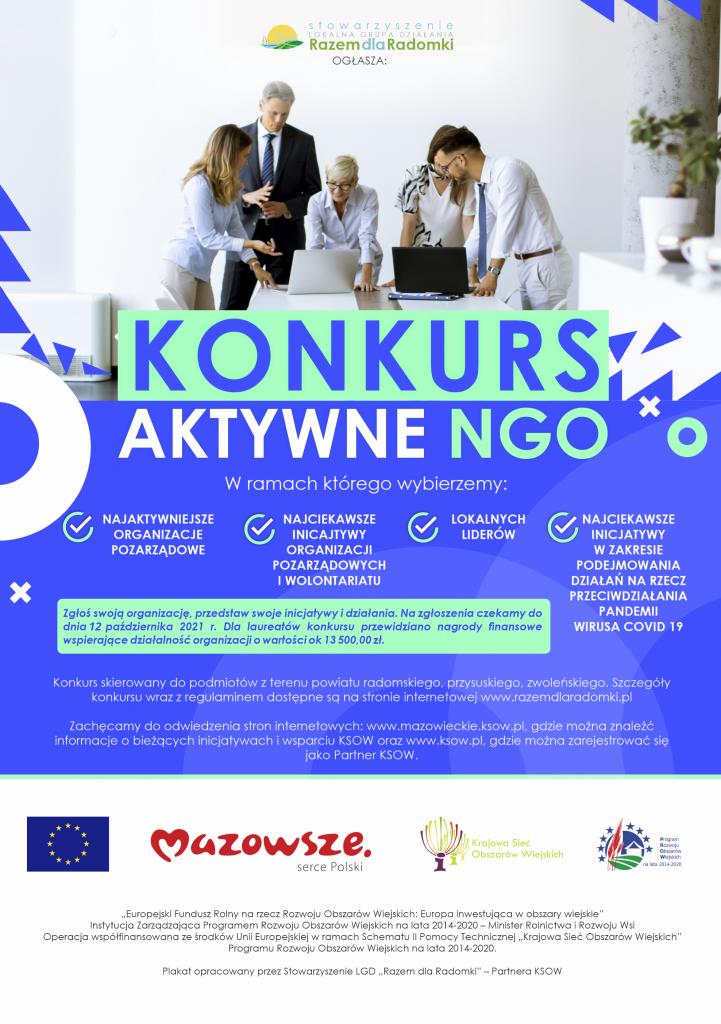 Plakat konkursu Aktywne NGO